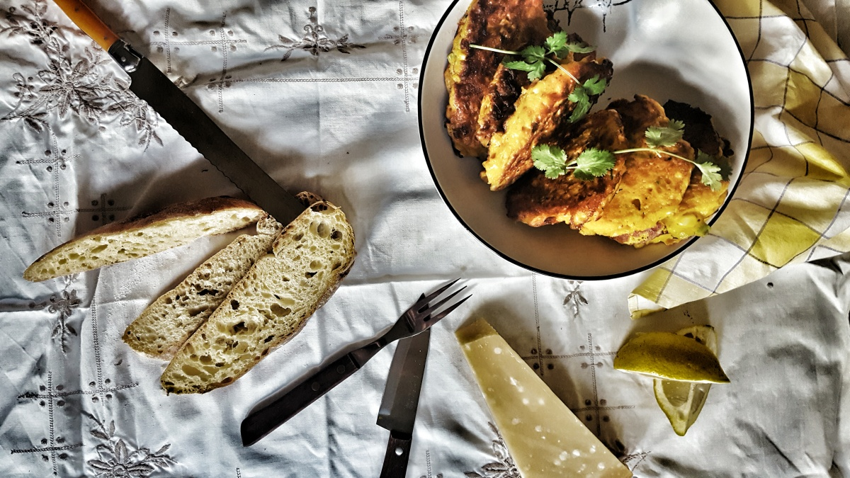 pumpkin sweetcorn fritters