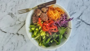 Spicy Lamb Kofte with Crunchy Salad