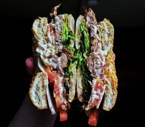 MY THURSDAY SANDWICH: Brisket with goatscheese