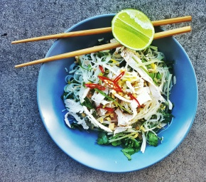 LEFTOVER TURKEY: Thai-style Green Mango Salad with Glass Noodles and Chili