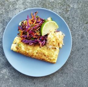 VEGETARIAN RECIPE: Mushroom Omelettes with cheat'sKimchi